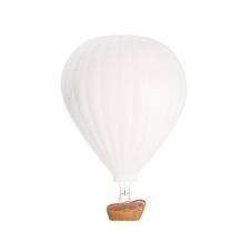 Blank white balloon with hot air mockup, isolated